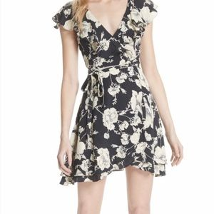 Free People French Quarter Floral Wrap Dress Sz M